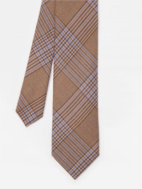 Wool Tie in Mini Houndstooth Plaid