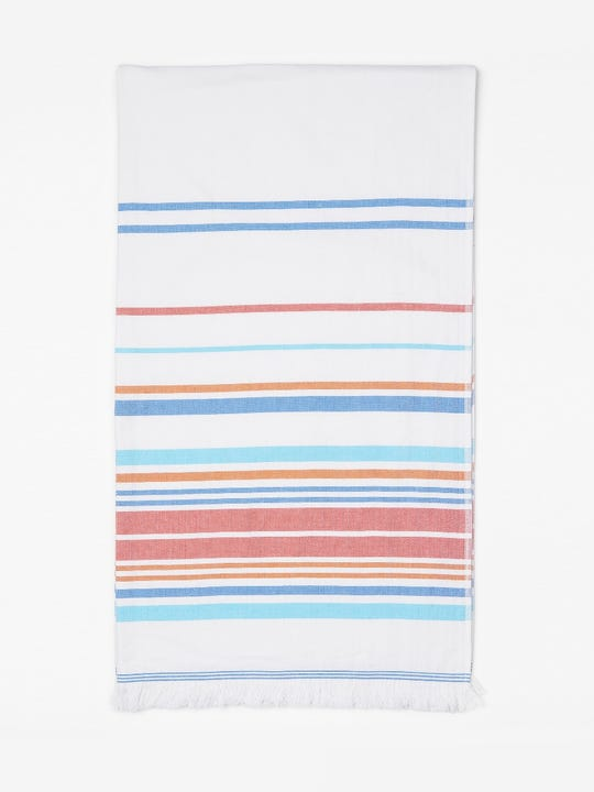 Turkish Towel in Multi Optic Stripe