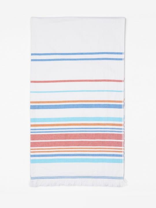 Turkish Towel in Multi Optic Stripe