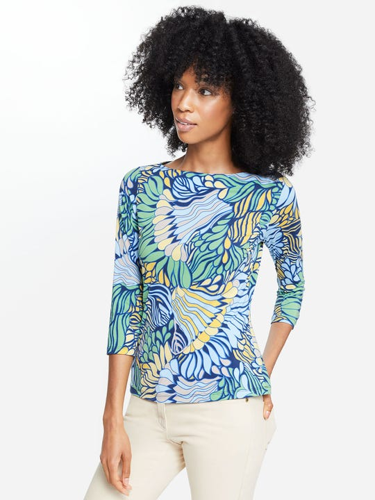 Wavesong Lyford Jersey Tee in Terre Floral