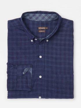 Westend Modern Fit Corduroy Shirt in Plaid