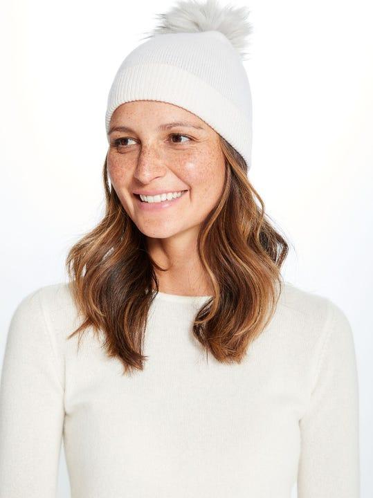 Yasmin Cashmere Pom Pom Hat