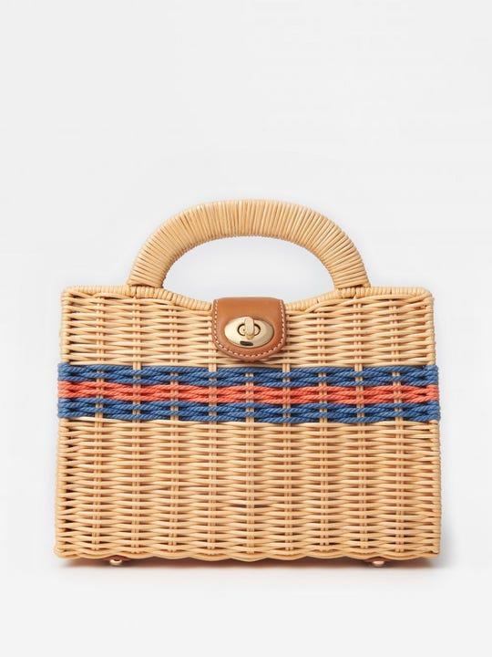 Yulia Wicker Handbag