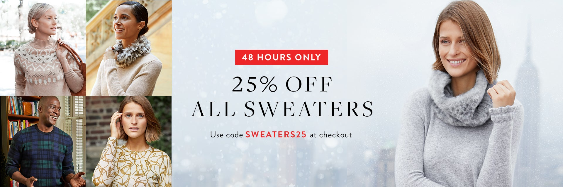 25% Off Sweaters Promo